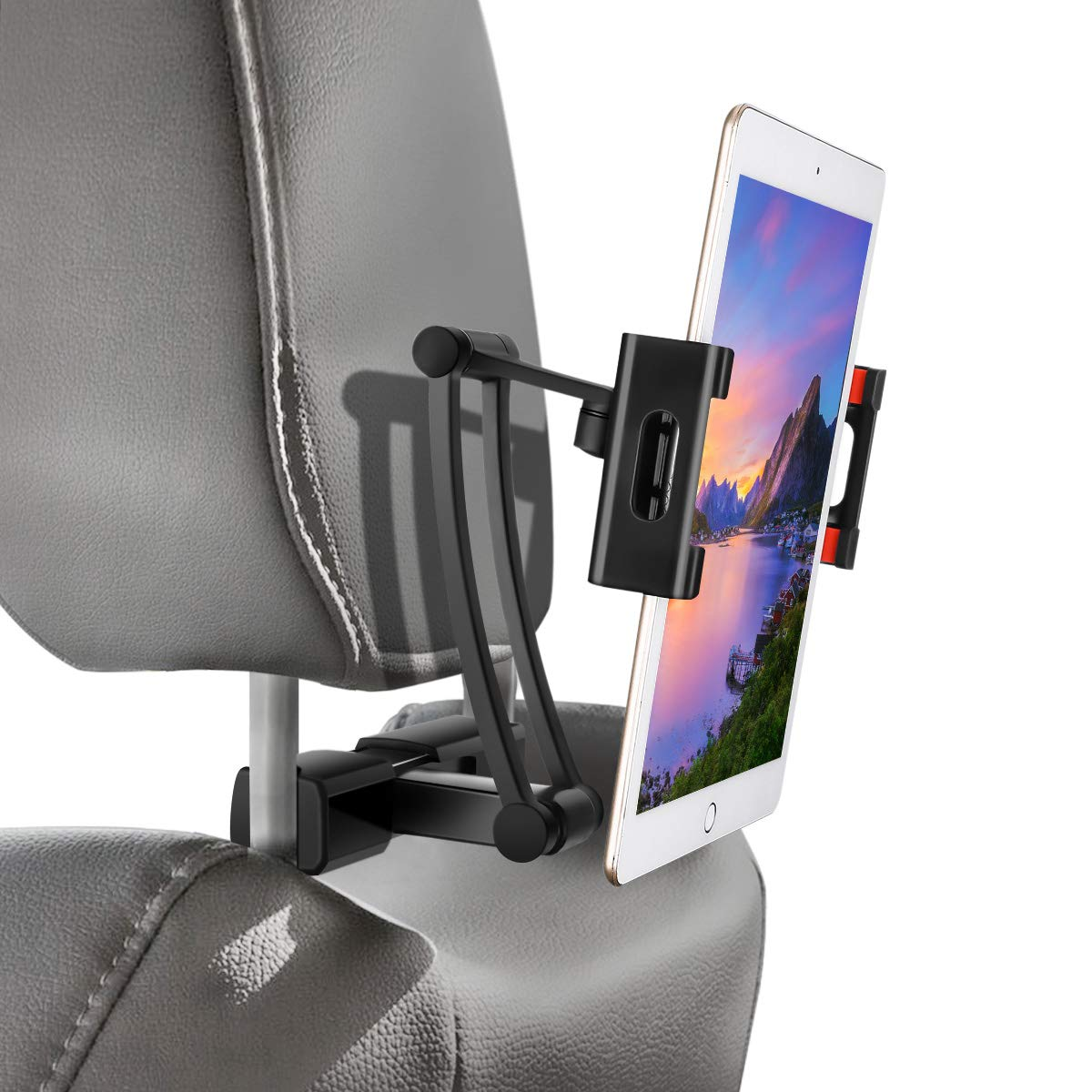 "Car Headrest Mount, Sawake Headrest Tablet Mount, Universal Tablet Holder for Car Backseat, for 5"" to 14"" iPad/Tablet/Smartphone/Nintendo Switch"