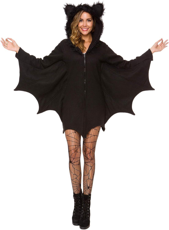 Amazon Com Halfjuly Halloween Costume For Women Bat Cozy Black Animal Adult Cosplay Vampire Zipper Dress Clothing