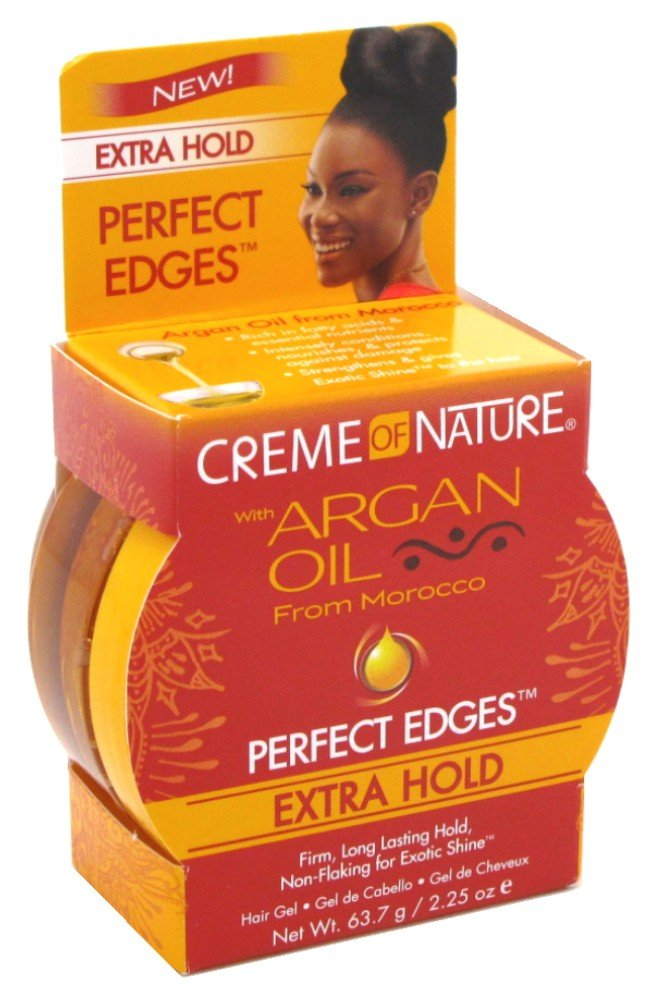 Creme Of Nature Argan Oil Perfect Edges Extra Hold 2.25 Ounce (66ml) (6 Pack)