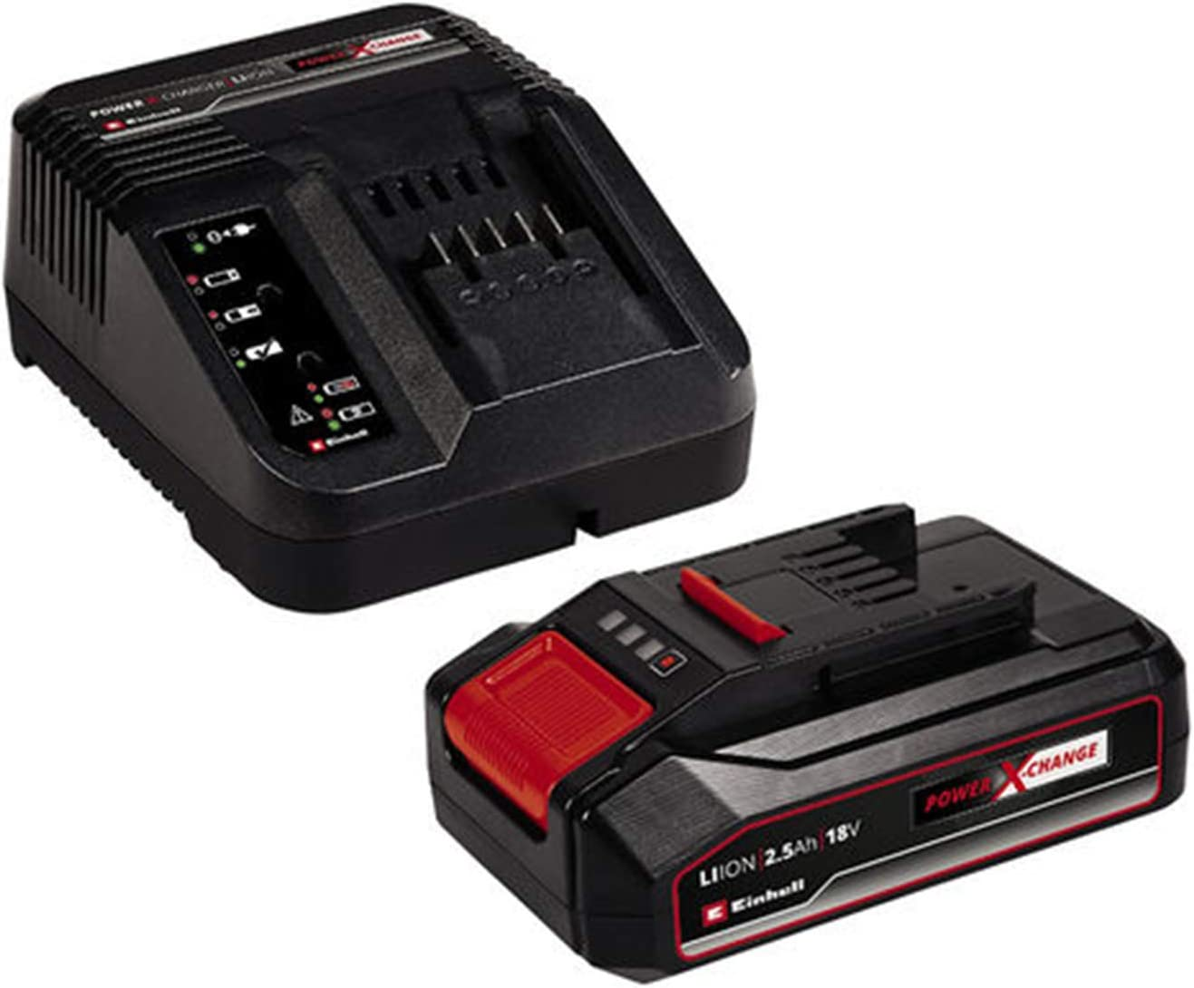 Einhell 4512097 Kit para Principiantes Que Incluye Batería 2,5 Cargador Power X-Change, 2.5 Ah, Duración de carga: 50 m