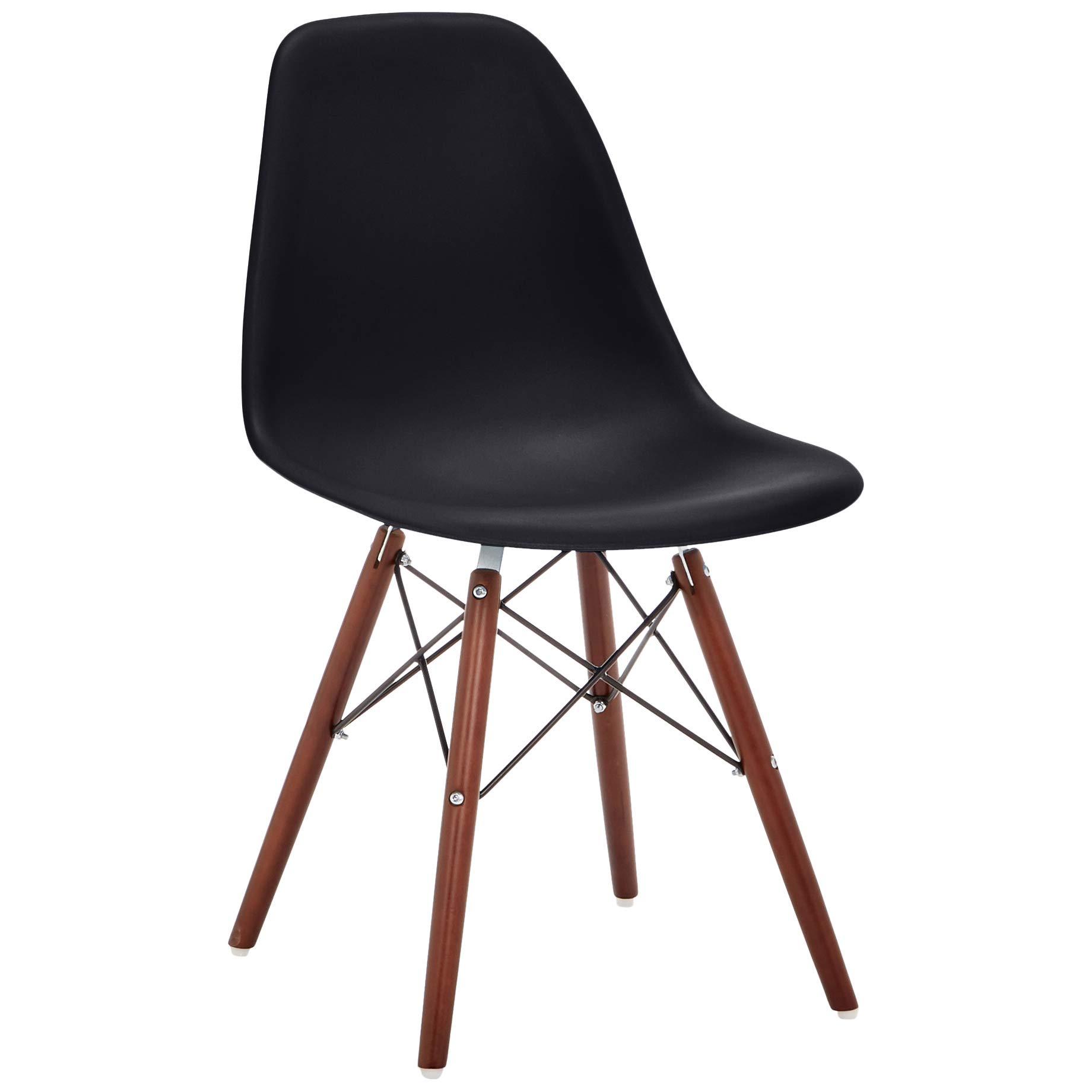Phoenix Home AVH072001 Dining Chair, 21'' Length x 18.5'' Width x 32.5'' Height, Black