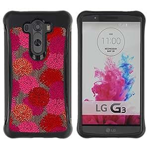 Fuerte Suave TPU GEL Caso Carcasa de Protección Funda para LG G3 / Business Style Floral Flowers Spring Art Purple