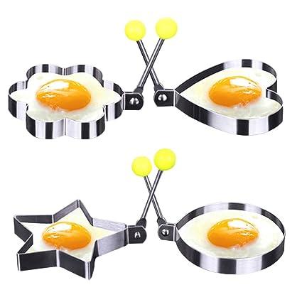 Molde para huevos fritos molde, acero inoxidable Pancake molde anillo DIY huevo sartén molde por
