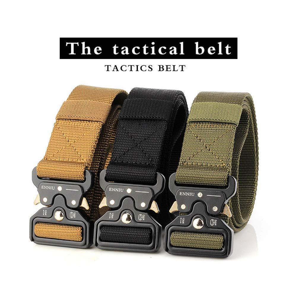 zonfer T/áctico Cintur/ón Hombres multifunci/ón Ej/ército Cintur/ón Web al aire libre estilo militar de nylon con Heavy-Duty de liberaci/ón r/ápida hebilla de metal