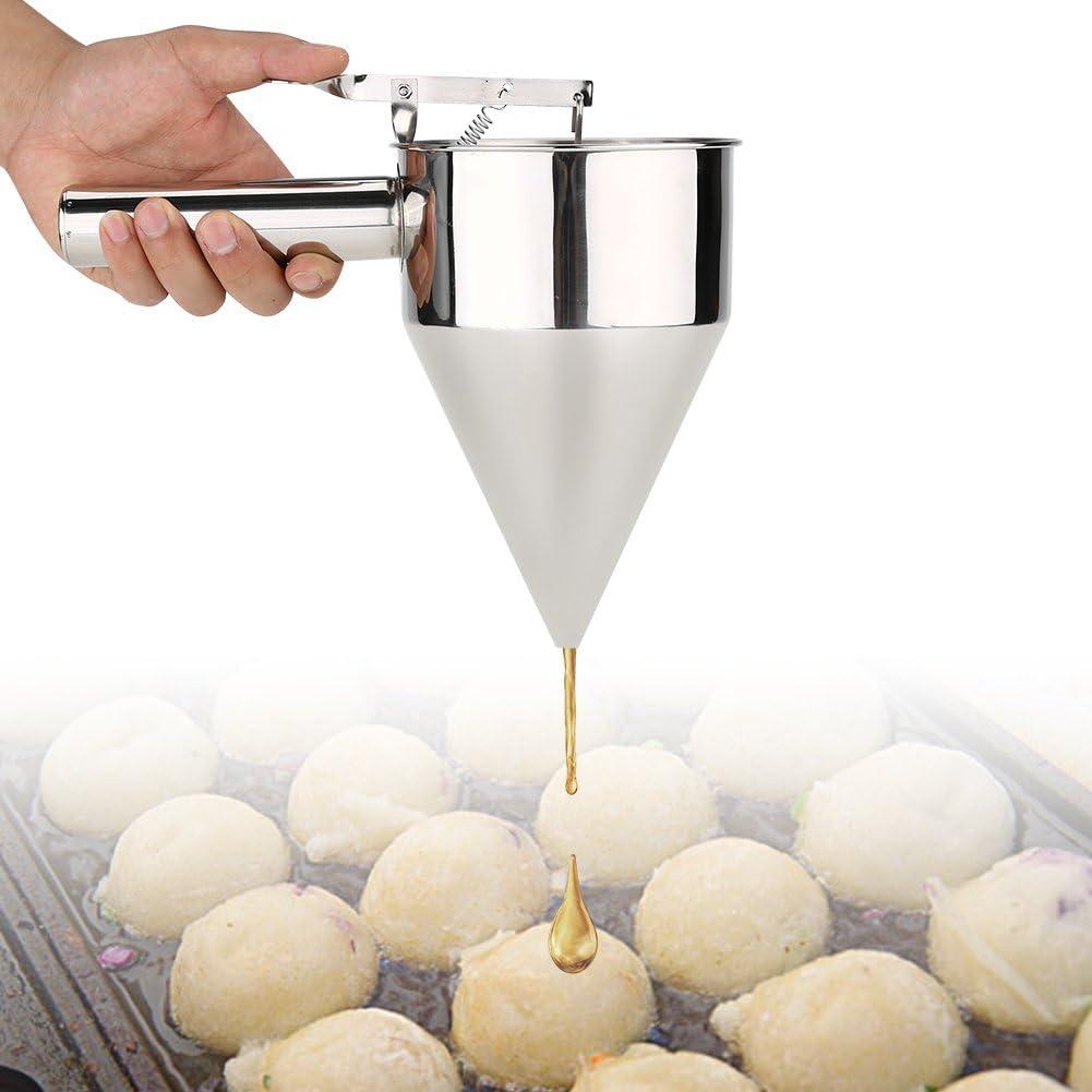 BYARSS Pastel de Embudo para Hornear con postres de Acero Inoxidable Utensilios de Cocina con Rejilla para la Cocina casera Panader/ía Haga deliciosos Platos y postres en la Cocina F/ácil de operar