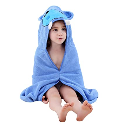 Feicuan Toalla de Bebé con Capucha Niños Niñas Toallas de Baño 100% Algodón Suave Poncho