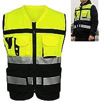 Chaleco de seguridad reflectante, Chaleco reflectante de seguridad de alta visibilidad, Ropa de ciclismo de tráfico de…