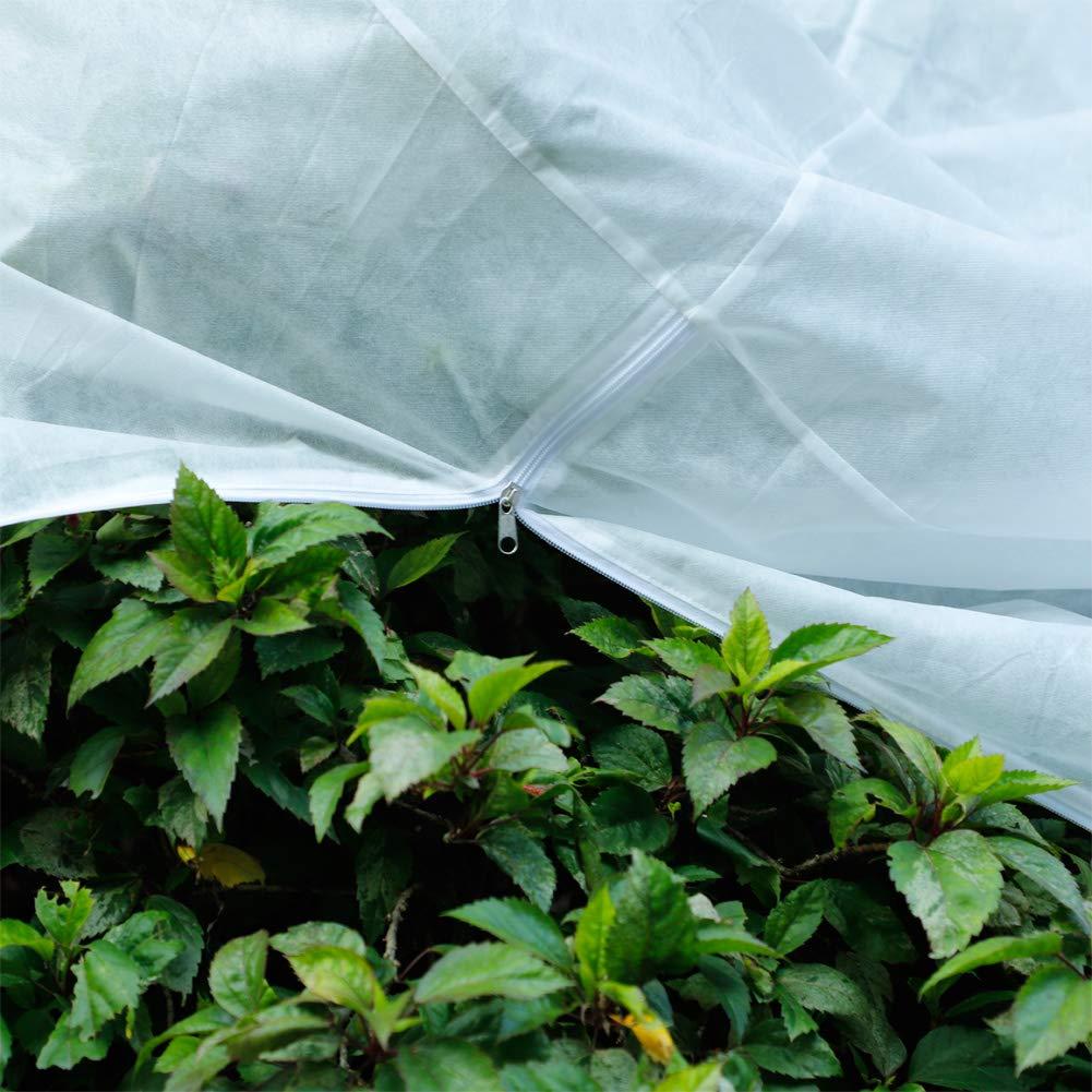 2PCS Pflanzenh/ülle Warmer Frostschutz Beutel mit Rei/ßverschluss f/ür Str/äucher 100 x 100 cm B/äume vor Besch/ädigung schlechtes Wetter 60 g//m/²