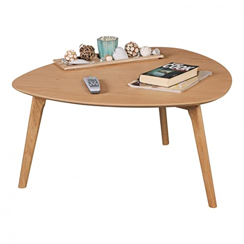 Tisch design holz  FineBuy Couchtisch aus MDF mit Eichefurnier Nierentisch ...
