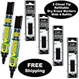 Pilot V Board Master Refillable Dry Erase Markers 2Pc Black + 4 Refills Deal (Small Image)