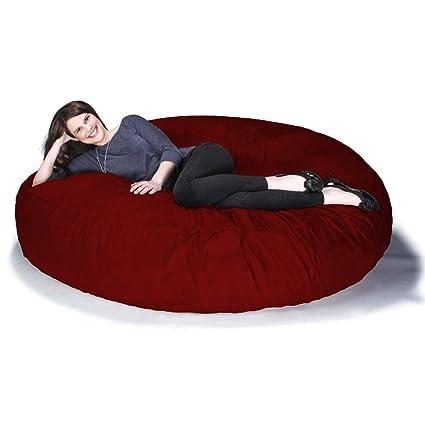 Jaxx 6 Foot Cocoon   Large Bean Bag Chair For Adults, Cinnabar