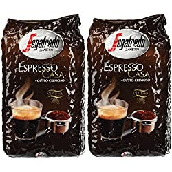 Segafredo Casa Whole Beans Coffee 2 Packs 17.6oz/500g Each