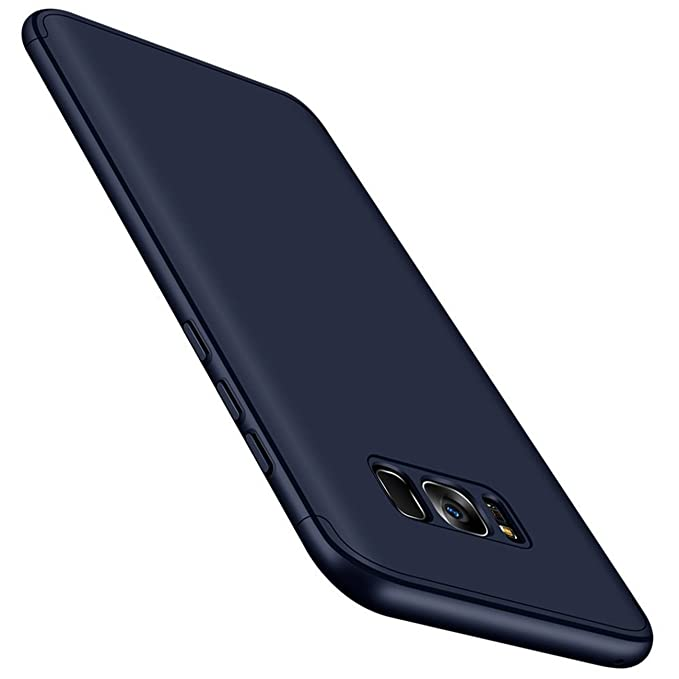 Qissy® Carcasa Compatible with Samsung Galaxy S8 Plus,3 in 1 Todo Incluido Anti-Scratch Ultra Slim Protective 360 PC Case Cover para Samsung Galaxy S8 ...