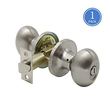 Interior Door Handles Brushed Nickel Privacy Door Knob Set Interior  Keyless, Universal Handing, Oval