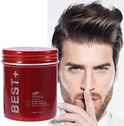 3 tipos de 100 ml profesional de larga duración de pelo mullido acabado cera herramientas de diseño para hombres(Transparente)