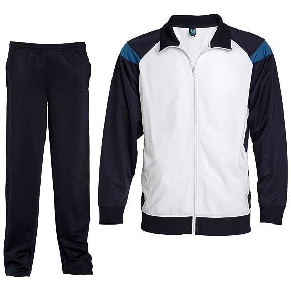 Chándal combinado de chaqueta y pantalón (6, MARINO/BLANCO ...
