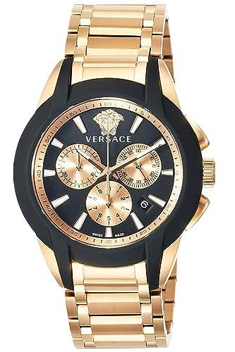 Versace VEM800318 Character - Reloj de Pulsera para Hombre con cronógrafo, Acero Inoxidable: Amazon.es: Relojes