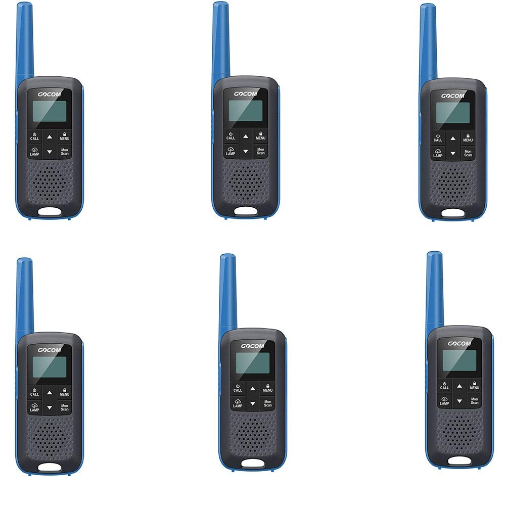6pcs XINHUANG Mini walkietalkie with LED light source, light and longdistance civilian commercial and leisure integrated walkietalkie, with USB Charging Base(2packs (Capacity   8pcs)