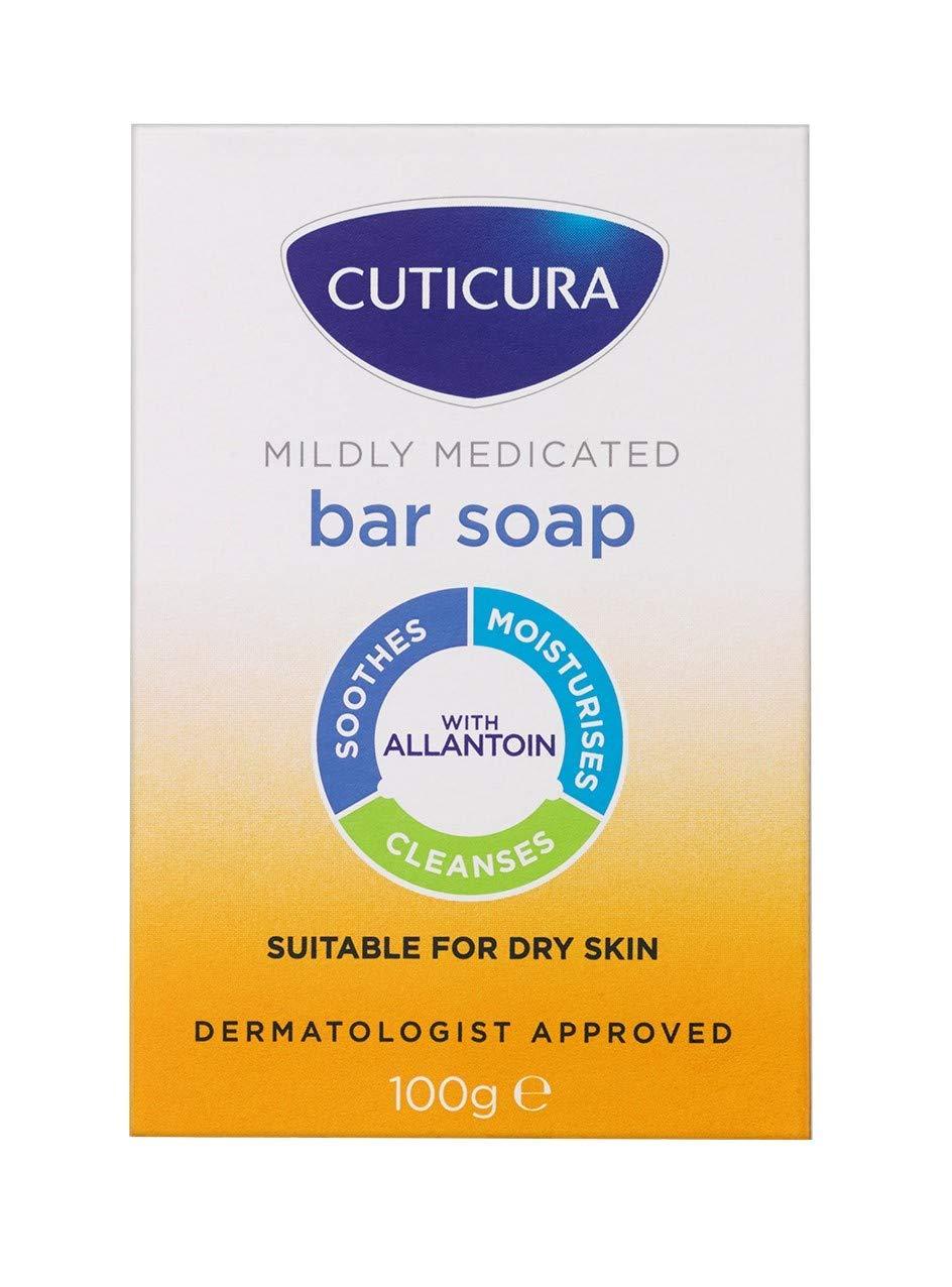 6 x Cuticura Mildly Medicated Bar Soap 100g
