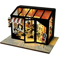 Generic LED Light Wood Miniature Doll House Creative Modern Building Kits with Furniture Kits for Children Festival Gift…