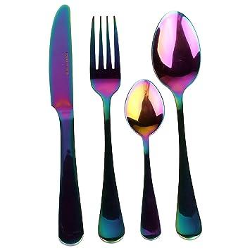 Arco iris de la cena romántica vajilla Set - Equipo de ...