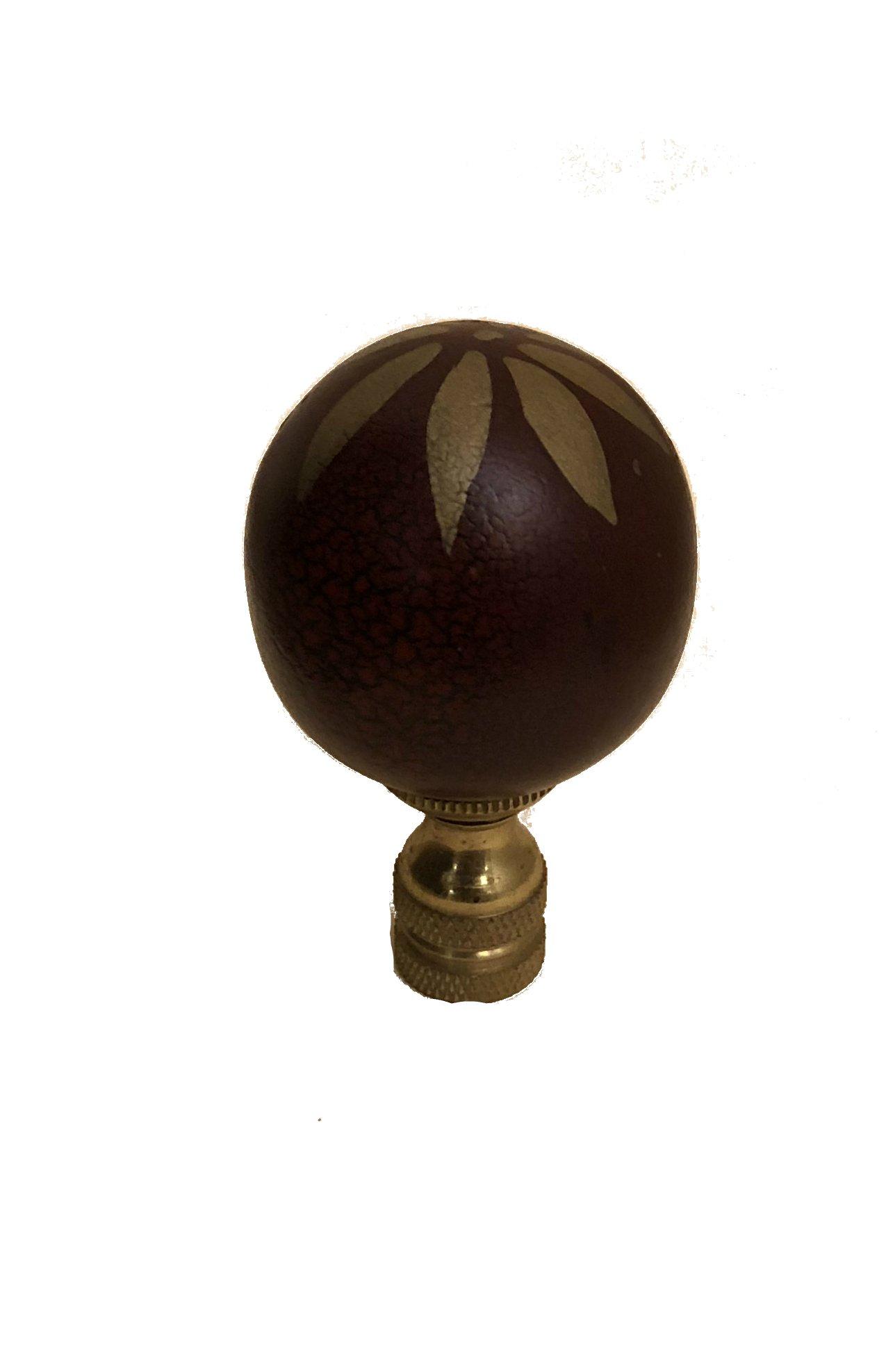 Bethesda Design, LLC Red Pomegranate Finial Faux Cinnabar Lamp Shade Topper Red Wood Ball 2.25'' Tall