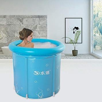 Bañera Inflable Adulto Barril de Baño Bañera Hinchable Redonda ...