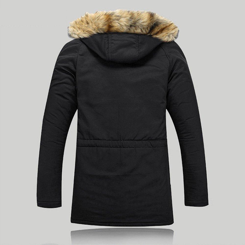 Amazon.com: Peize Unisex Women Men Outdoor Fur Wool Fieece Warm Winter Long Hood Coat Jacket: Grocery & Gourmet Food
