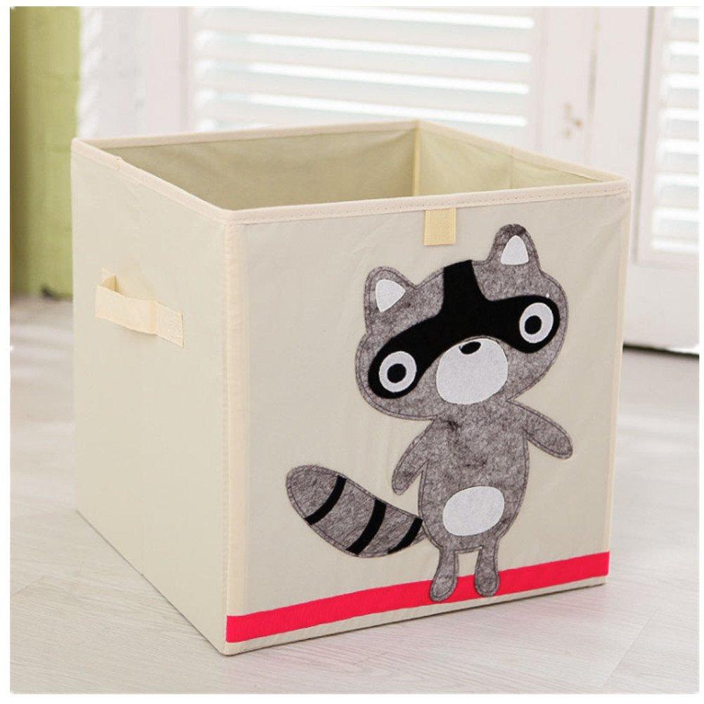 Kid s plegable caja de juguete y de almacenamiento Caja y armario organizador 33 cm 33 33 Hippo