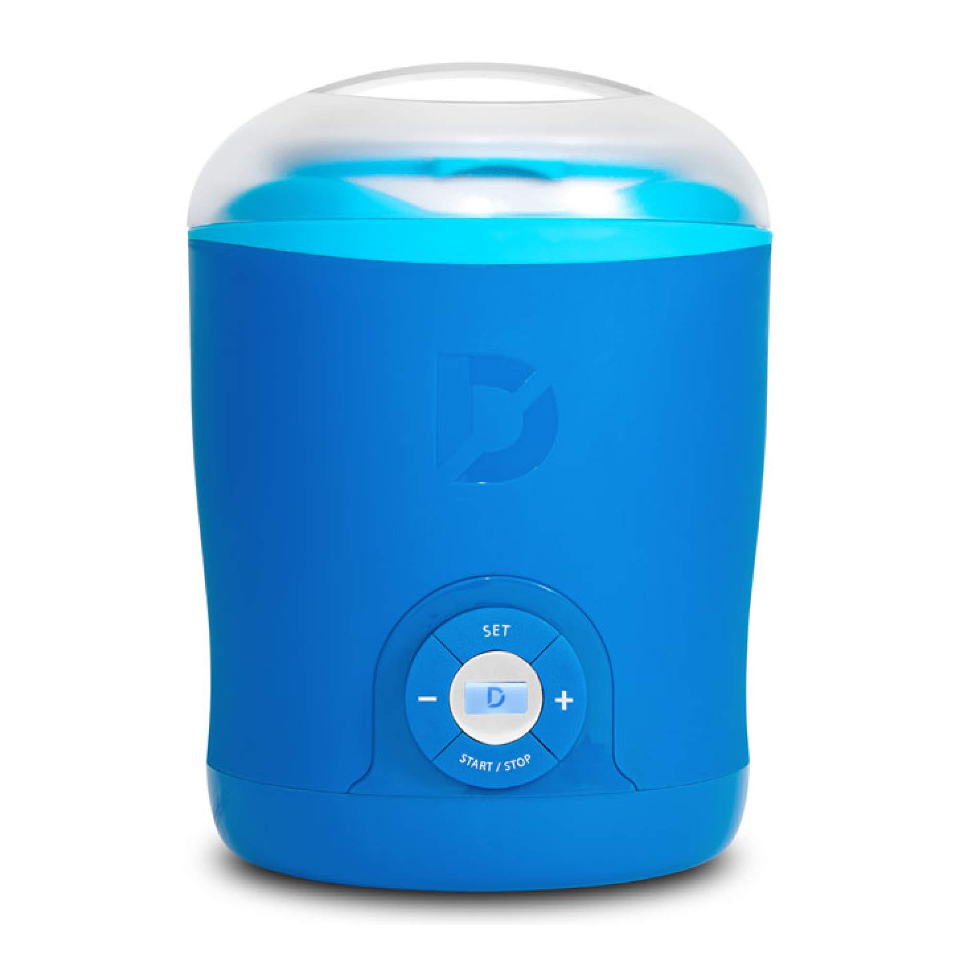 Dash Greek Yogurt Maker Machine with LCD Display + 2 BPA-Free Storage Containers with Lids, Blue (Renewed) by DASH