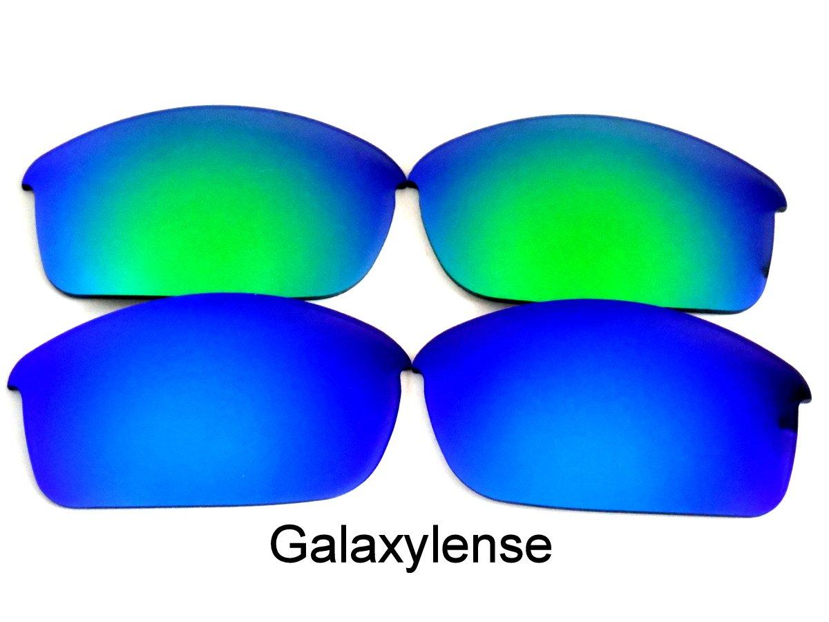 Galaxis Ersatzgläser für Oakley Flak Jacket blau & grün Farbe 2 Paar ...