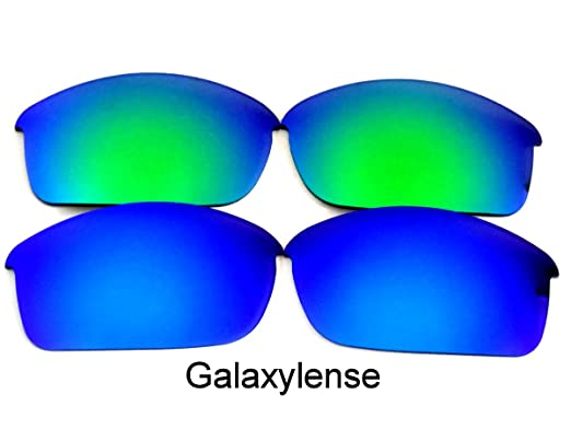 482faee3b4 Galaxy Replacement Lenses for Oakley Flak Jacket Blue Green Color 2 Pairs