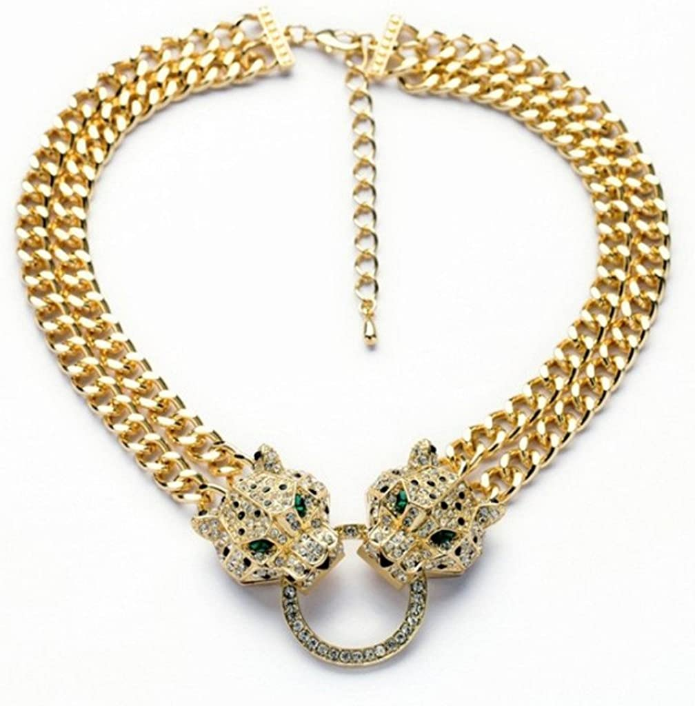 collier homme panthere
