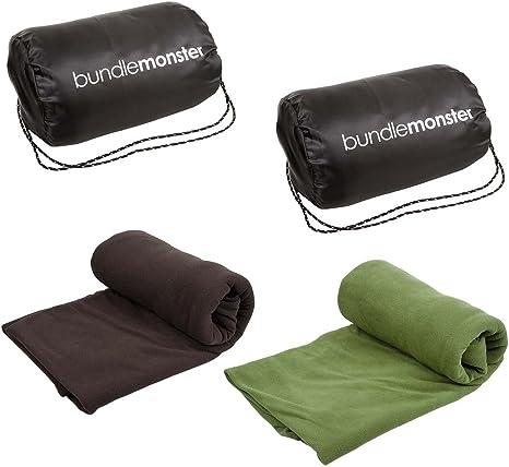Fleece Camping Sleeping Bag Liner Adult Travel Hiking Hostel Bag Lining Sheet UK