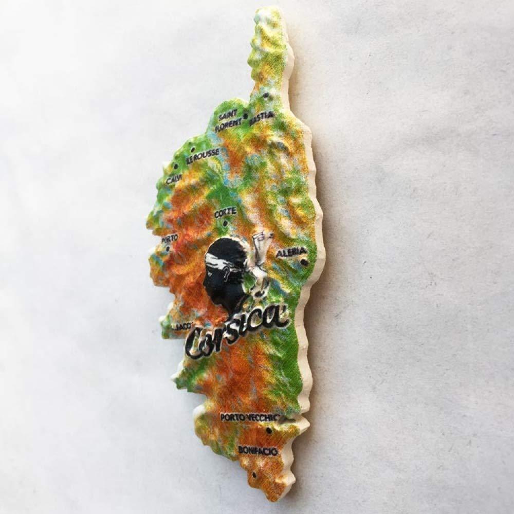 Ximai Carte de la Corse Aimant Frigo Aimant de R/éfrig/érateur Tourisme Francais