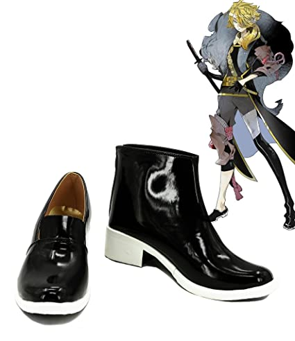 Touken Ranbu Online Game Shishiou Cosplay Shoes Boots Custom Made