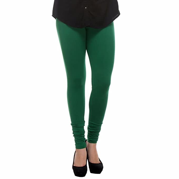 ae85a836fb39cc Trasa Cotton Lycra Women's Churidar Leggings - Size :- XX-Large, Forest  Green (Brand Outlet): Amazon.in: Clothing & Accessories