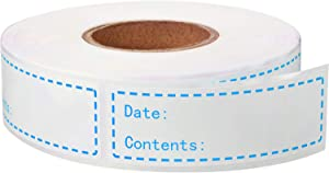 500 Pieces Food Freezer Labels 1 x 3 inches Self-Adhesive Removable Storage Refrigerator Food Date Labels Easy Clean Leaves No Residue (Blue)