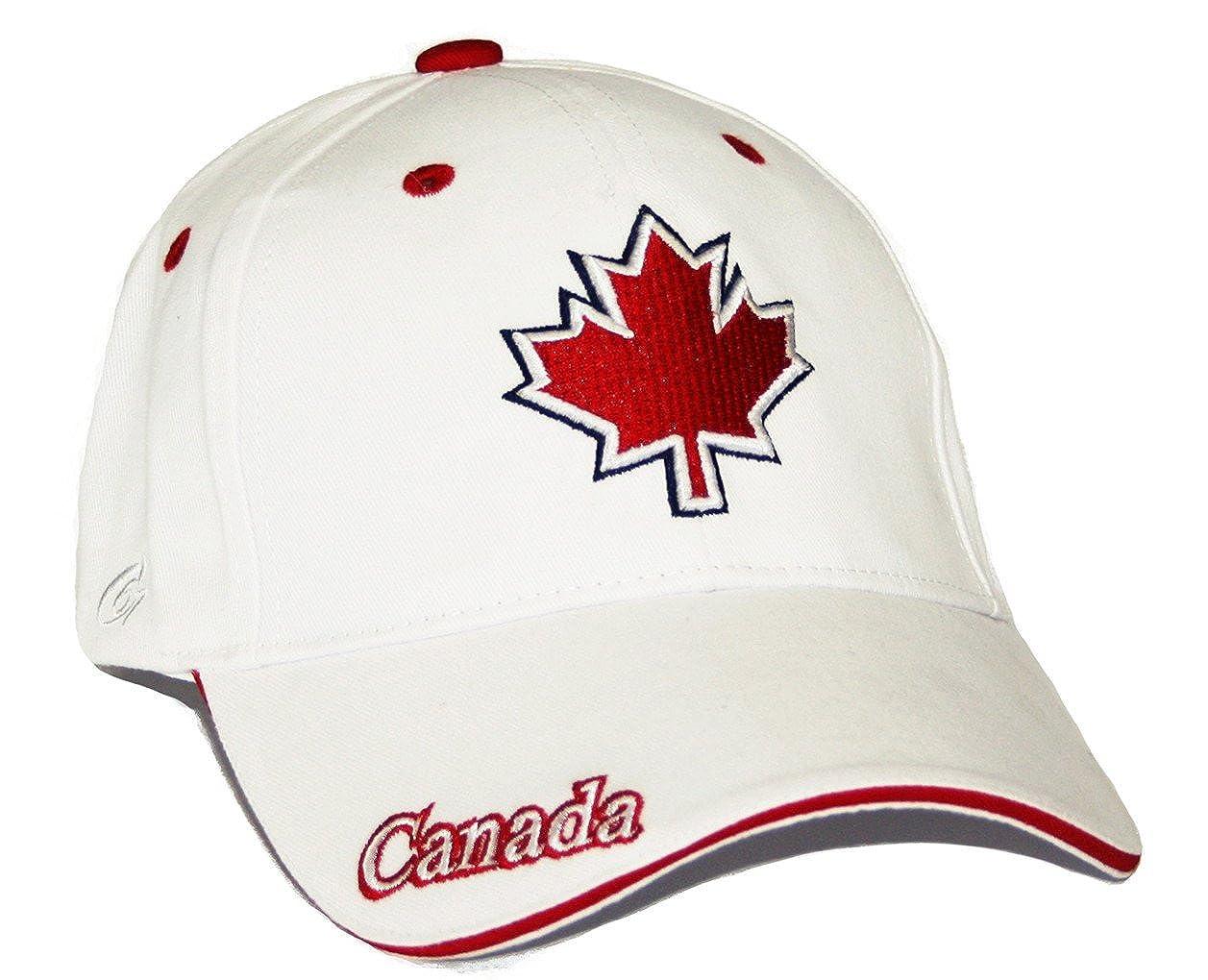 Canada Baseball Cap Maple Leaf Flag Adjustable Hat True North - White   Amazon.ca  Clothing   Accessories dbdd77e9330