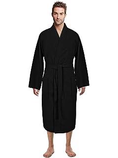 Essentials Mens Waffle Shawl Robe