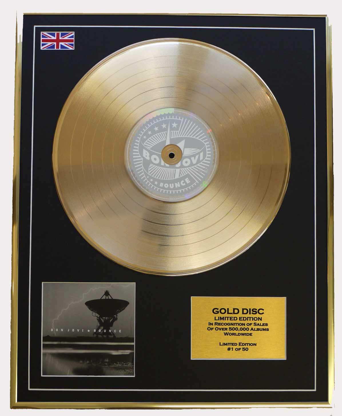 Bon Jovi Gold Disc Record Limitierte Edition Bounce