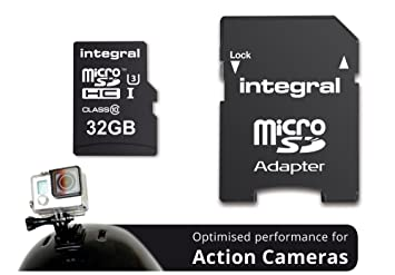 Integral Action Camera 32GB MicroSDHC UHS-I Clase 10 Memoria ...