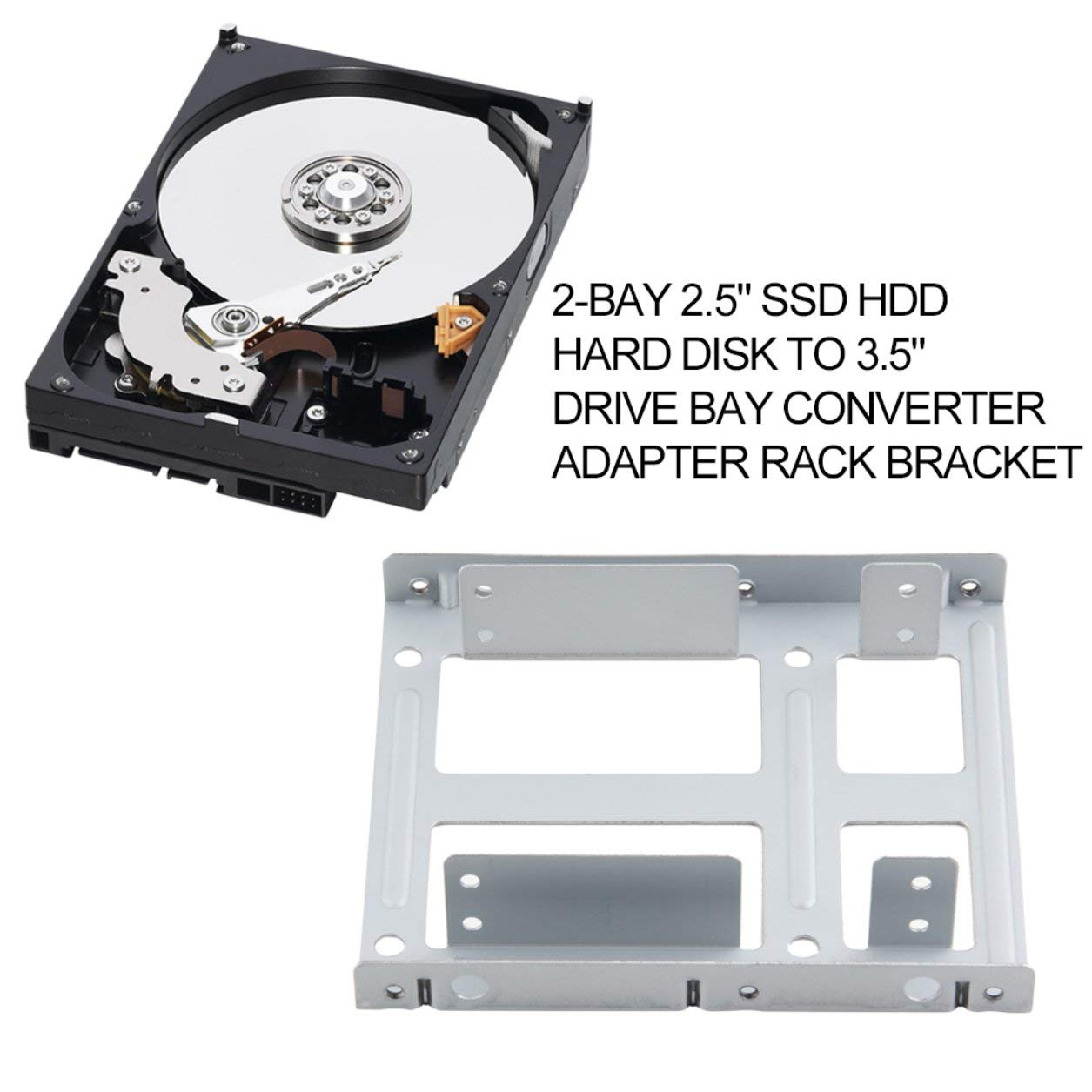 Dailyinshop Aluminio 2-Bay Disco Duro SSD HDD de 2,5 Pulgadas a 3 ...