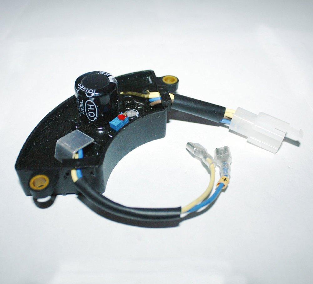 JXPARTS 2800 W 2800 Watt Generator AVR Automatic Voltage Regulator Rectifier 2.8KW Generator AVR Half Moon Style