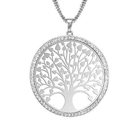 1e148036863629 LINSUNG Vintage Ladies' Necklace The Tree Gem Pendant Long Chain Blessing  Necklaces Make A Wish(White): Amazon.co.uk: DIY & Tools