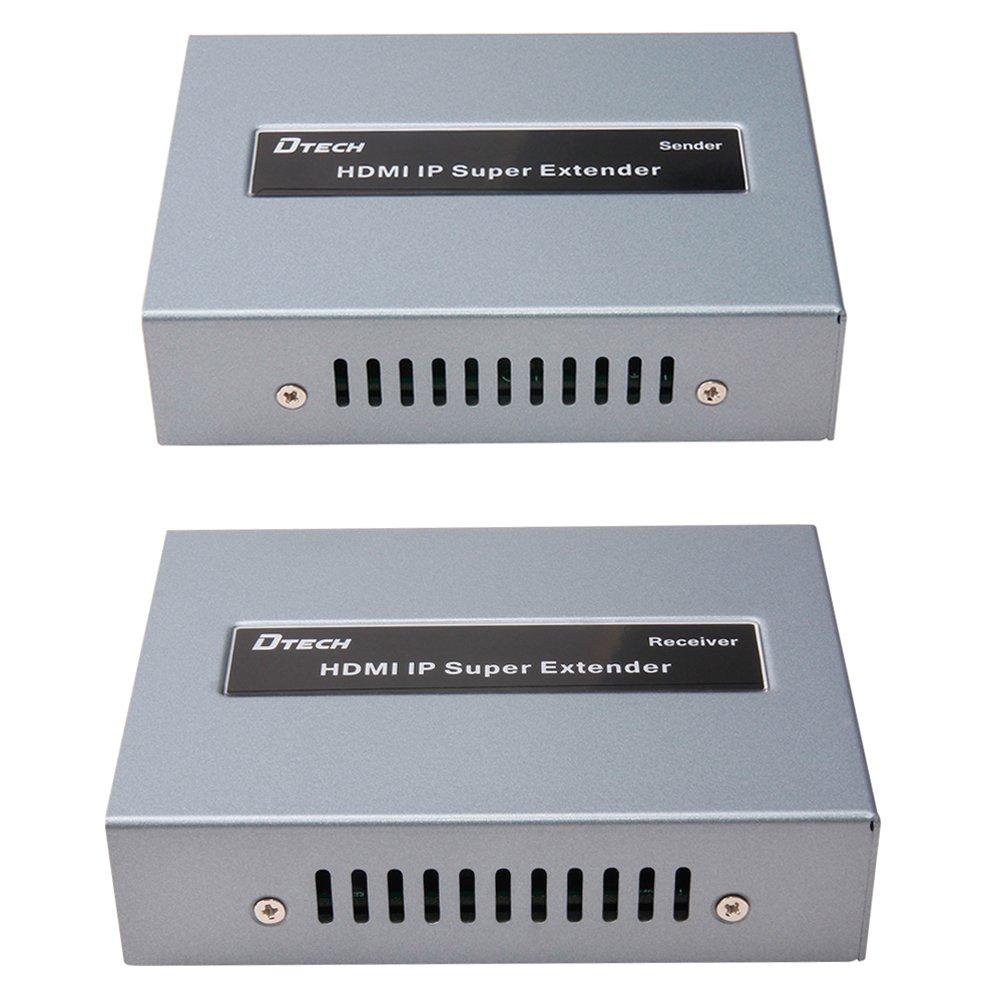 Amazon.com: DTECH HDMI Extender over Single Cat5 Cat6 Ethernet Cable ...