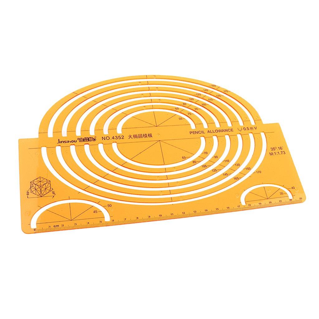 Sharplace Grande Modello di Ellissi Isometrici Disegno Righello Attrezzi di Architettura Strumenti