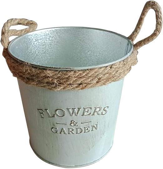 Macetas de flores Da.Wa, vintage, cubo colgante, para el jardín o balcón, de decoración, metal, As Show, 11*12cm: Amazon.es: Jardín