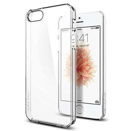 iPhone SE Hülle, Spigen® iPhone 5S/5/SE Hülle [Thin Fit Crystal] Passgenaues [Crystal Clear] Premium Hart-PC Schale / Transpa