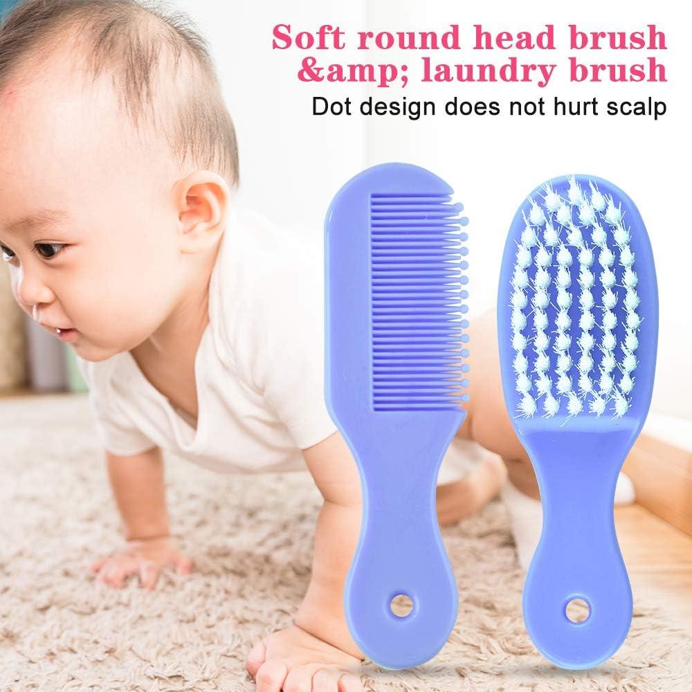 u/ñas pelo salud Cuidado Term/ómetro Pincel Kit 8 piezas//juego de reci/én nacido beb/é ni/ños Cuidado Set azul Set para el cuidado del beb/é